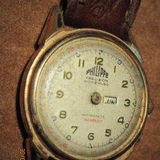 Relojes: PHILIPPE PRECISION 21 RUBIES DOS SELLOS RELOJ PULSERA GRANDE PLACA DE ORO 2º GUERRA MUNDIAL SS. Lote 203962485