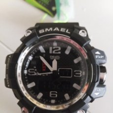 Relojes: RELOJ DOBLE HORARIO SMAEL COLOR NEGRO NUEVO. Lote 226145290