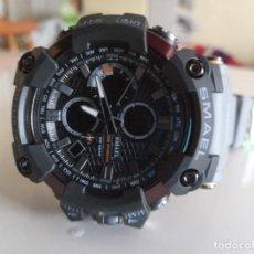 Relojes: RELOJ DOBLE HORARIO SMAEL COLOR GRIS NUEVO. Lote 226145603