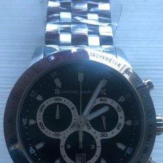 Relojes: PRECIOSO RELOJ CHRONO DIAMOND ACERO CRONOGRAFO SWISS MADE NUEVO. VER FOTOS.. Lote 226499430