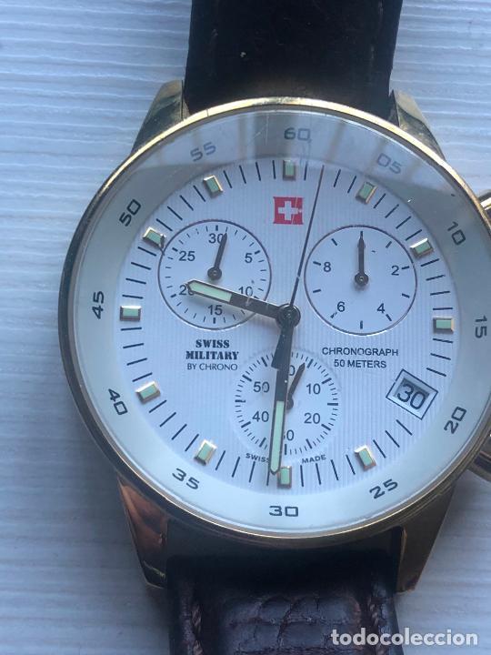 Relojes: PRECIOSO RELOJ CABALLERO CRONOGRAFO SWISS MILITARY RARO Y CURIOSO. VER FOTOS - Foto 3 - 226584761