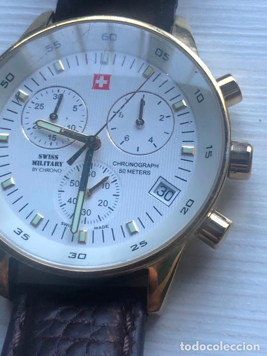 Relojes: PRECIOSO RELOJ CABALLERO CRONOGRAFO SWISS MILITARY RARO Y CURIOSO. VER FOTOS - Foto 4 - 226584761