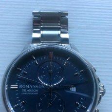 Relojes: RELOJ CABALLEROS ROMANSON DE ARBON CAJA ACERO MENS WATCH CHRONOGRAPH. Lote 226586215
