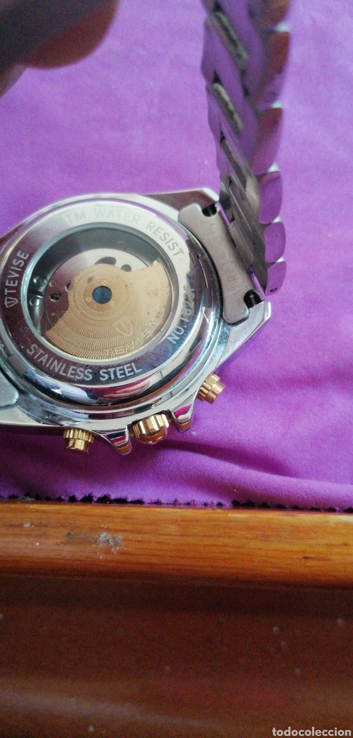 Relojes: RELOJ DE PULSERA MARCA TEVISE AUTOMÁTICO ESTILO ROLEX - Foto 6 - 227677844