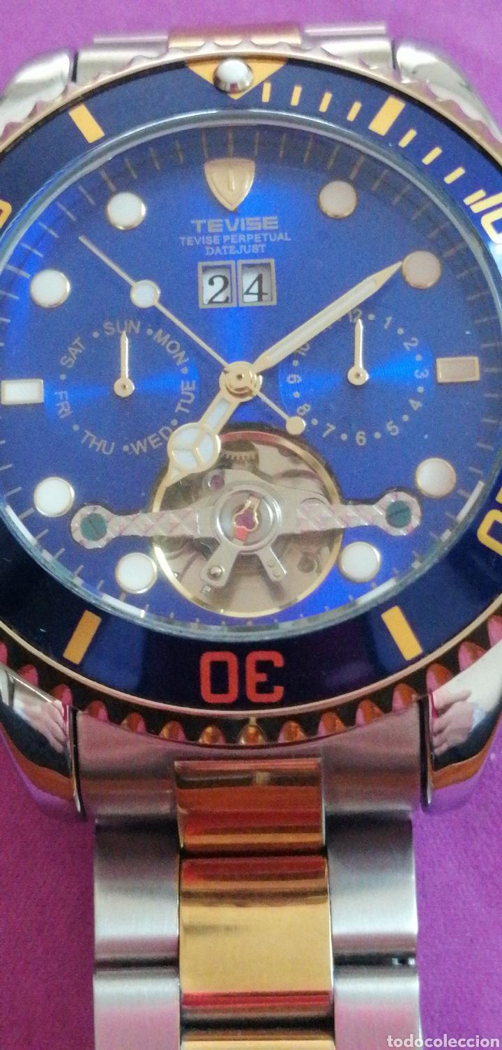 Relojes: RELOJ DE PULSERA MARCA TEVISE AUTOMÁTICO ESTILO ROLEX - Foto 7 - 227677844