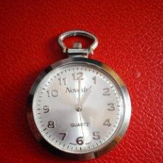 Relojes: RELOJ BOLSILLO NOVESTEL QUARZO ACERO NUEVO.. Lote 227737200