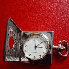Relojes: RELOJ BOLSILLO DEMUR QUARZO ACERO NUEVO.. Lote 227737919