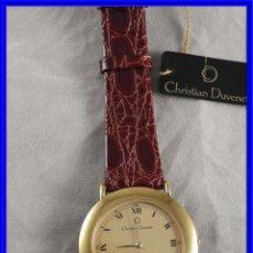 Relojes: RELOJ CHRISTIAN DUVENET DORADO Y ACERO CORREA DE PIEL. A ESTRENAR. Lote 228536835