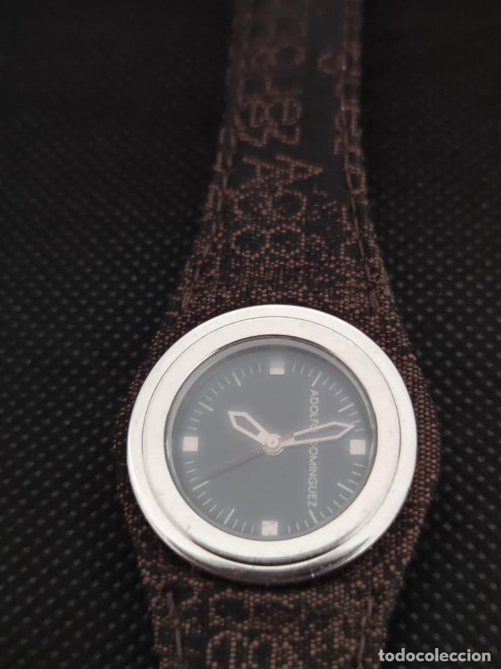 Relojes: RELOJ SEÑORA ADOLFO DOMINGUEZ, FUNCIONA PERFECTAMENTE. - Foto 3 - 229169465