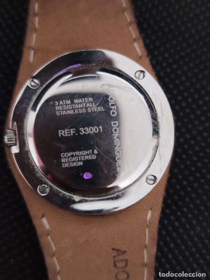 Relojes: RELOJ SEÑORA ADOLFO DOMINGUEZ, FUNCIONA PERFECTAMENTE. - Foto 5 - 229169465