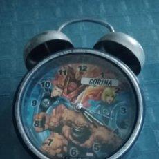 Relojes: RELOJ DE MESA LOS CUATRO 4 FANTÁSTICOS. Lote 230835115