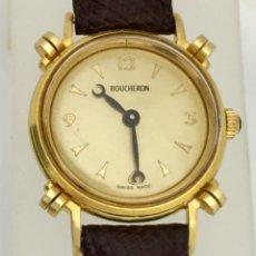 Relojes: BOUCHERON UNISEX PLAQUÈ ORO. Lote 232227195