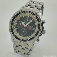 Relojes: RELOJ TIME FORCE 8539 SUPER CHRONOGRAPH 5ATM DE CUARZO SEGUNDA MANO. Lote 234850270