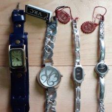 Relojes: LOTE DE 4RELOJES DE SEÑORA, NUEVOS SIN USAR. Lote 236206360