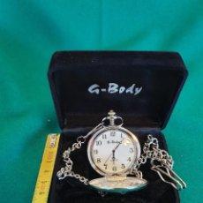 Relojes: RELOJ BOLSILLO G.BODY DE CUARZO DE ACERO. Lote 237442135