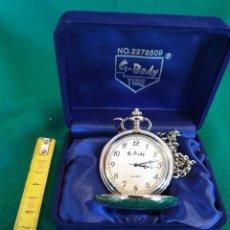 Relojes: RELOJ BOLSILLO G.BODY DE CUARZO DE ACERO. Lote 237442480