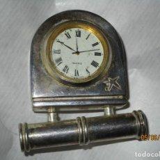 Relojes: ANTIGUO RELOJ CONTRASTE DE ORFEBRES CUNILL CAIXA RECUBIERTO PLATA MOVT JAPAN. Lote 46345686