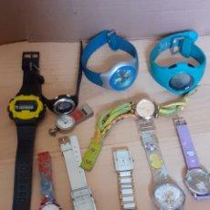 Relojes: LOTE DE 11 RELOJES DE CUARZO, NO SE HAN PROBADO, 2 ESTÁN FUNCIONANDO. Lote 237701670