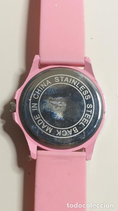 Relojes: Reloj de MUJER. CORREA ROSA DE SILICONA. MARCA GENEVA - Foto 8 - 239653075