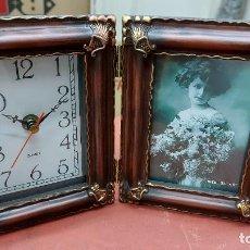 Relojes: PORTAFOTO CON RELOJ DE DECORACION MIDE 26X17CM. Lote 239897410