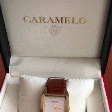 Relojes: PRECIOSO RELOJ MUJER MARCA CARAMELO, EN SU ESTUCHE ORIGINAL. Lote 240809860