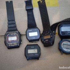 Orologi: LOTE RELOJES DIGITALES PIEZAS REPARACION CASIO F-14, F-18, AUDEL SPORT. Lote 243084665