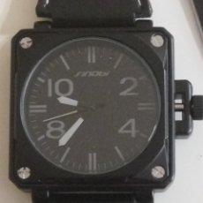 Relojes: RELOJ SINOBI CUADRADO HOMBRE NUEVO. Lote 243088680