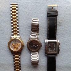 Relojes: LOTE DE 3 RELOJES DE CUARZO PARA CABALLERO. Lote 243215780