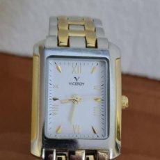 Relojes: RELOJ DE SEÑORA CUARZO VICEROY ACERO Y CHAPADO ORO, ESFERA BLANCA, CON CORREA ORIGINAL VICEROY.. Lote 243267080