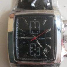 Relojes: ELEGANTE RELOJ CRONÓGRAFO MEGIR NEGRO ACERO HOMBRE. Lote 243290275