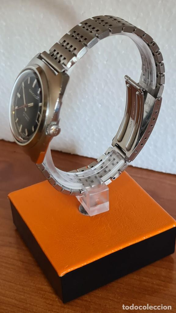 Relojes: Reloj caballero (Vintage) SANDOZ automático en acero con calendario a las tres, correa de acero. - Foto 6 - 243617175