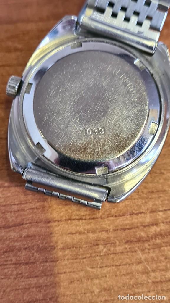 Relojes: Reloj caballero (Vintage) SANDOZ automático en acero con calendario a las tres, correa de acero. - Foto 13 - 243617175