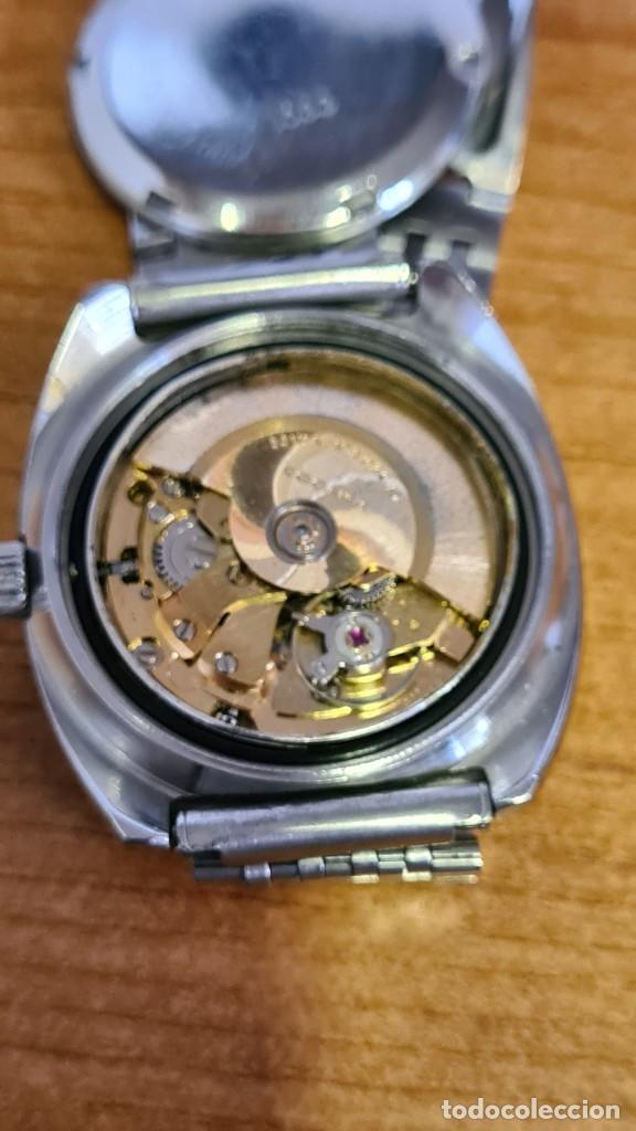Relojes: Reloj caballero (Vintage) SANDOZ automático en acero con calendario a las tres, correa de acero. - Foto 17 - 243617175