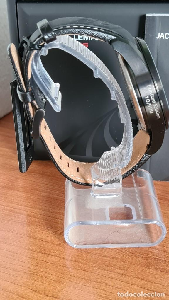 Relojes: Reloj caballero cuarzo JACQUES LEMANS. Fórmula 1, esfera negra, caja acero negra, su caja y garantía - Foto 12 - 244669165