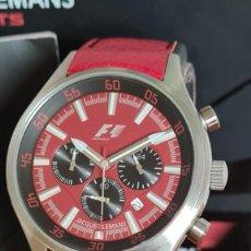 Relojes: RELOJ CABALLERO CUARZO JACQUES LEMANS. FÓRMULA 1. MONZA F5034, CAJA ACERO, ESFERA ROJA, MIRAR FOTOS. Lote 244676520
