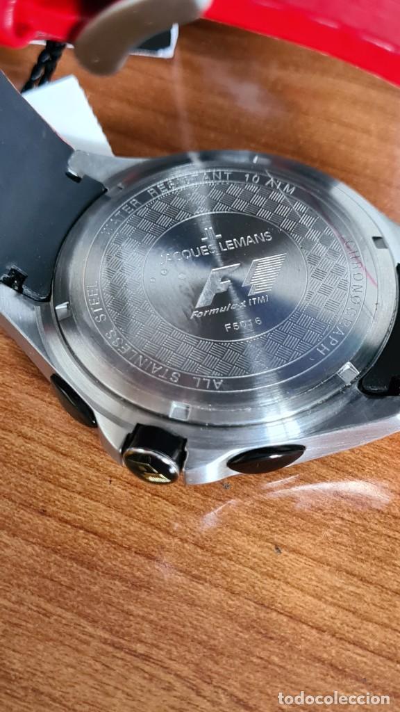 Relojes: Reloj caballero cuarzo JACQUES LEMANS. Fórmula 1, caja acero, bisel con taquímetro, esfera vino. - Foto 9 - 244684660