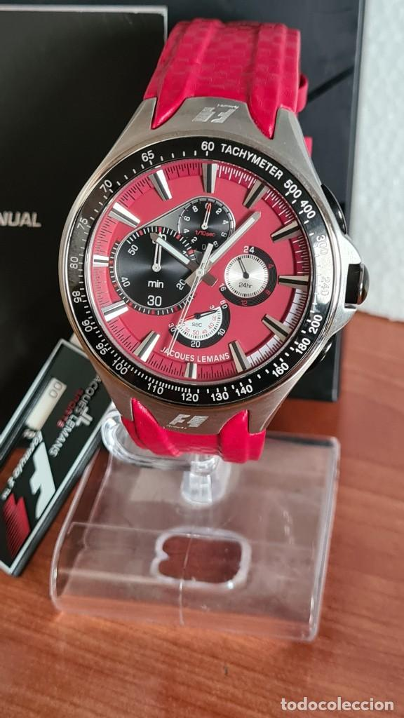 Relojes: Reloj caballero cuarzo JACQUES LEMANS. Fórmula 1, caja acero, bisel con taquímetro, esfera vino. - Foto 10 - 244684660
