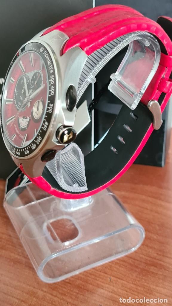 Relojes: Reloj caballero cuarzo JACQUES LEMANS. Fórmula 1, caja acero, bisel con taquímetro, esfera vino. - Foto 13 - 244684660