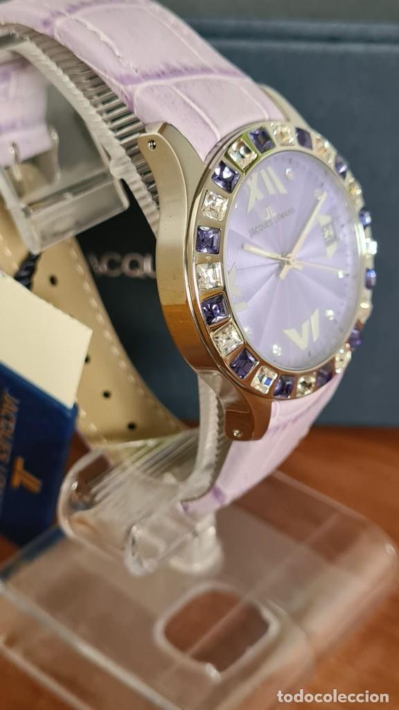 Relojes: Reloj unisex cuarzo JACQUES LEMANS. F1, caja acero con bisel piedras Swarovsky originales correa, - Foto 5 - 244692880