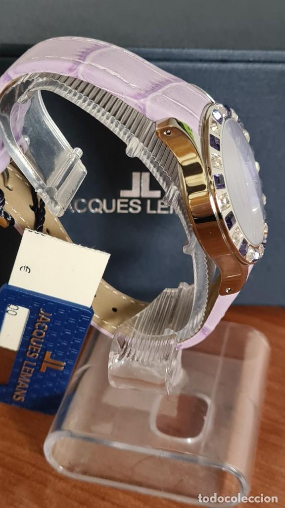 Relojes: Reloj unisex cuarzo JACQUES LEMANS. F1, caja acero con bisel piedras Swarovsky originales correa, - Foto 7 - 244692880
