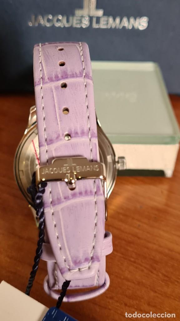Relojes: Reloj unisex cuarzo JACQUES LEMANS. F1, caja acero con bisel piedras Swarovsky originales correa, - Foto 10 - 244692880