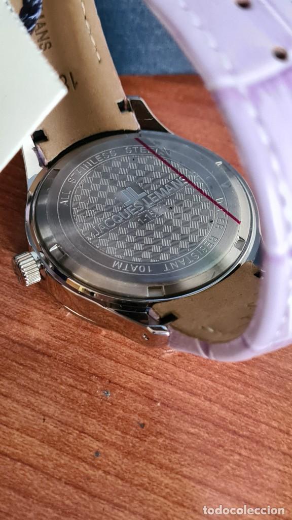 Relojes: Reloj unisex cuarzo JACQUES LEMANS. F1, caja acero con bisel piedras Swarovsky originales correa, - Foto 11 - 244692880