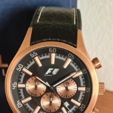 Relojes: RELOJ CABALLERO CUARZO JACQUES LEMANS. F1, CAJA ACERO CHAPADO ROSA, ESFERA NEGRA CON CRONOGRAFO.. Lote 244718980