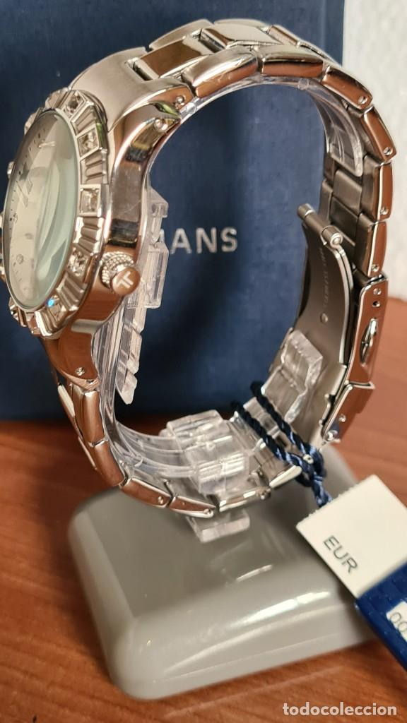 Relojes: Reloj unisex cuarzo JACQUES LEMANS. F1, caja acero con bisel piedras Swarovsky originales correa, - Foto 5 - 244721005