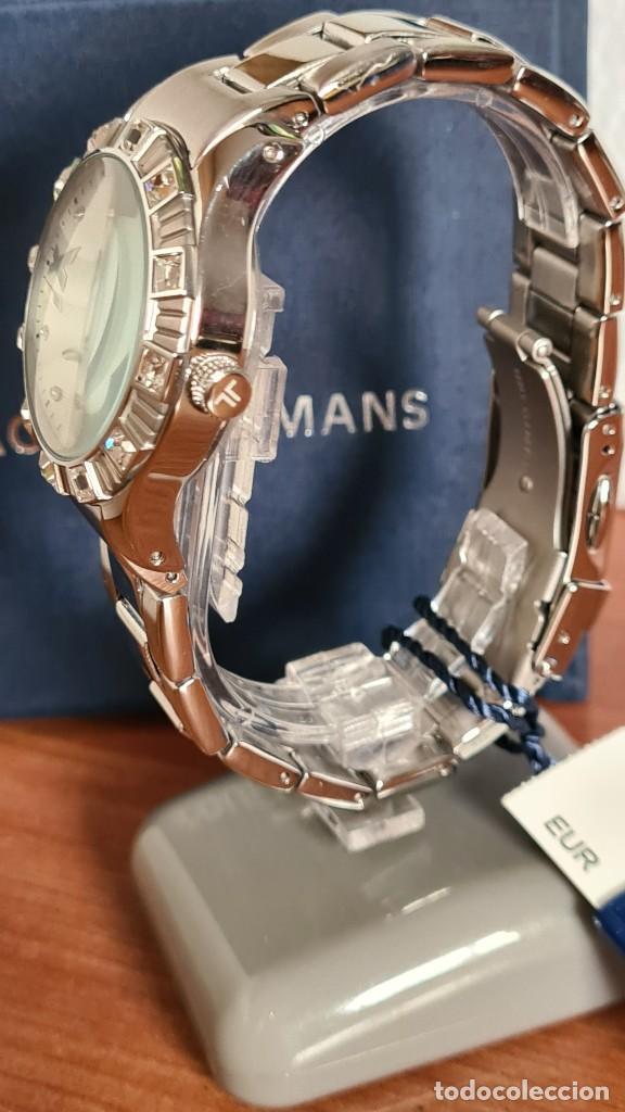 Relojes: Reloj unisex cuarzo JACQUES LEMANS. F1, caja acero con bisel piedras Swarovsky originales correa, - Foto 7 - 244721005