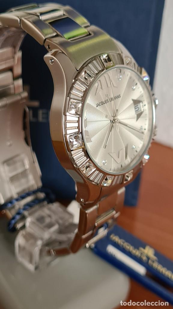Relojes: Reloj unisex cuarzo JACQUES LEMANS. F1, caja acero con bisel piedras Swarovsky originales correa, - Foto 8 - 244721005