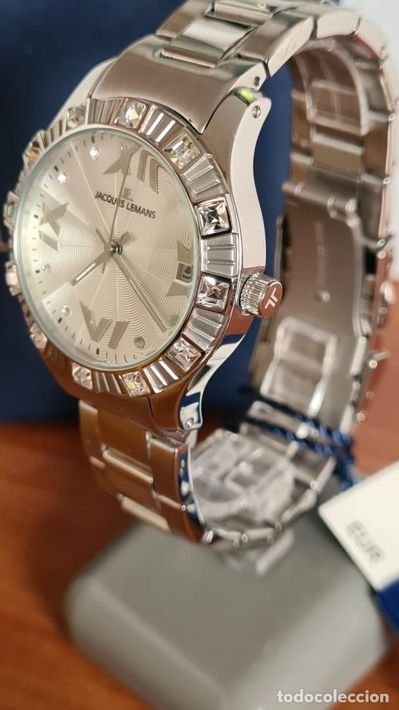 Relojes: Reloj unisex cuarzo JACQUES LEMANS. F1, caja acero con bisel piedras Swarovsky originales correa, - Foto 9 - 244721005
