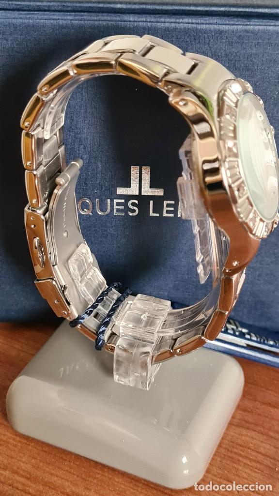 Relojes: Reloj unisex cuarzo JACQUES LEMANS. F1, caja acero con bisel piedras Swarovsky originales correa, - Foto 10 - 244721005