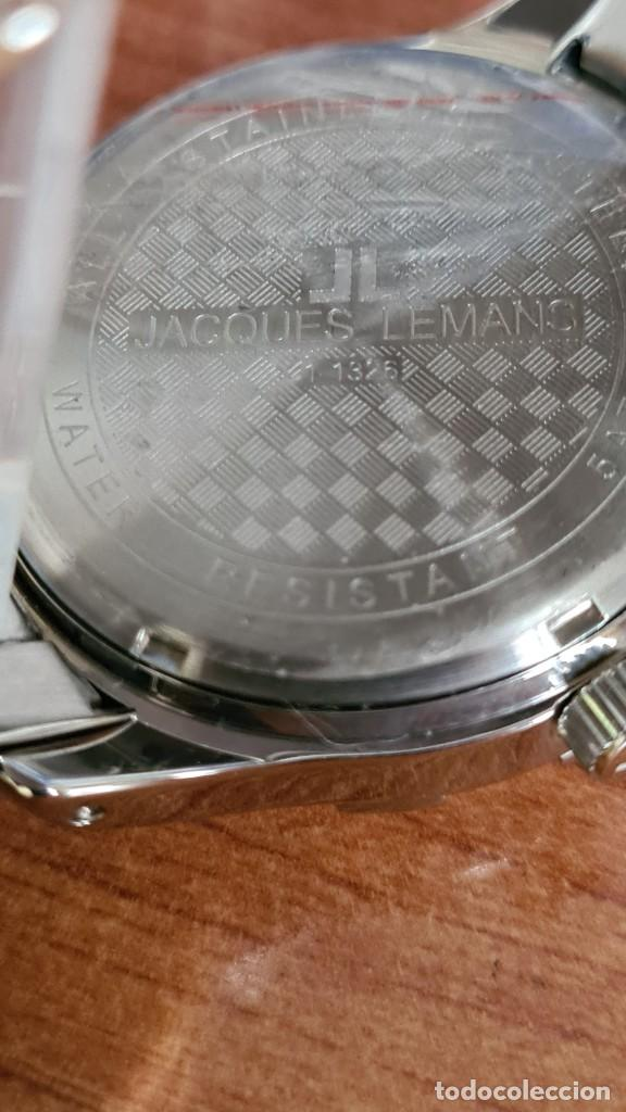 Relojes: Reloj unisex cuarzo JACQUES LEMANS. F1, caja acero con bisel piedras Swarovsky originales correa, - Foto 13 - 244721005