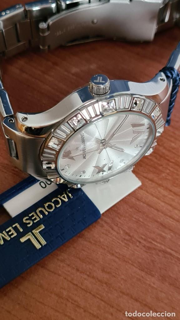 Relojes: Reloj unisex cuarzo JACQUES LEMANS. F1, caja acero con bisel piedras Swarovsky originales correa, - Foto 14 - 244721005